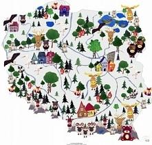 mapa dla dzieci ze zwierzętami