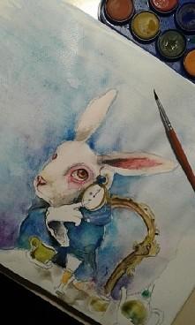 Mój króliczek z Alicji ^^ Jak wam się podoba ? :)