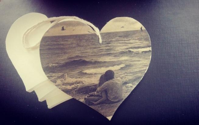 Bardzo dobryFantastyczny Zdjęcie na drewnie Zdjęcie odbite na drewnianym sercu o wymiar US13