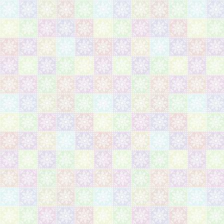 Bawełniana tkanina Wycinanka Pastelowa (kliknij, żeby kupić)