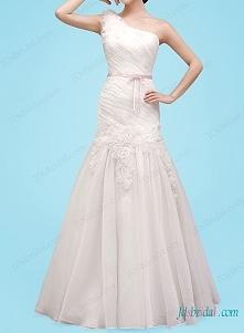 jedno ramię suknia ślubna