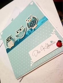 kartka urodzinowa sówki