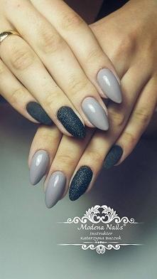 Najciekawsze Inspiracje na Manicure z Kolorem Szarym [GALERIA]