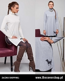 Elegancka tunika z golfem. Dobrze wygląda w zestawieniu z legginsami i wysoki...
