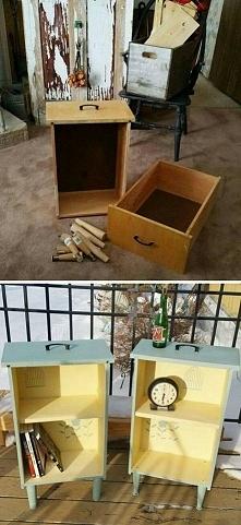 Pomysł na odnowione szafeczki ze starych szuflad :)
