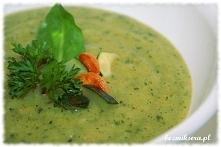 Kolejne pyszne zastosowanie cukinii - zupa krem z cukinii.