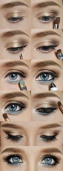 makijaż oczu krok po kroku :)