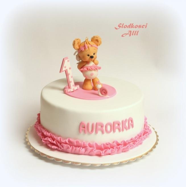 Tort Na Roczek Dla Dziewczynki Wszystkie Dekoracje Wykonję Ręcz Na