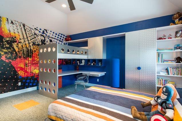 pok j dla ch opca w mocnych kolorach inspiracje na wn trza dom. Black Bedroom Furniture Sets. Home Design Ideas