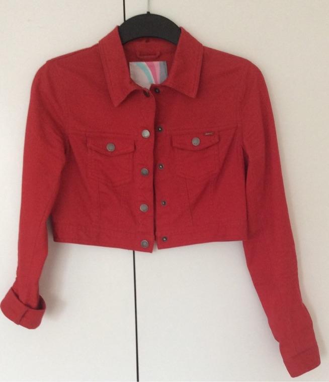 na sprzedaż - NOWA kurtka, katana crop czerwona S, 65zł