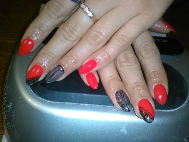 semilac red carpet rajstopowe paznokcie hybrydy nails