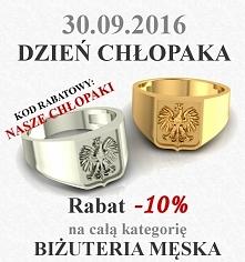 Wszystkiego najlepszego z okazji Dnia Chłopaka :) przez cały weekend będzie obowiązywał rabat 10% na całą biżuterię z kolekcji męskiej :) wystarczy wpisać kod rabatowy : NASZE C...