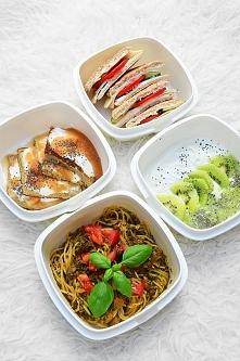 Dzisiejszy set ok 1500-1600 kalorii. Box 1. Spaghetti pełnoziarniste w sosie ...