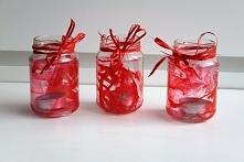 Prześliczne romantyczne świeczniki, wykonane z zwykłych słoiczków. Zainspirowało mnie, aby móc spędzać czas z bliskimi osobami wśród świeczek, które dają niesamowity efekt. Zaws...