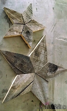 How to Make Rustic Patchwork Stars