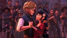 Adrien i Marinette jako Flynn i Roszpunka.