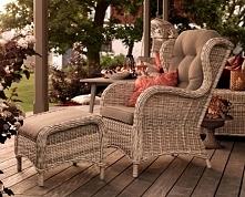 Tradycyjny a zarazem świetnie klimatyczny fotel na taras i nie tylko! Wzór ko...