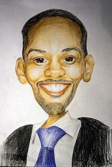 portret a'la karykatura. Will Smith