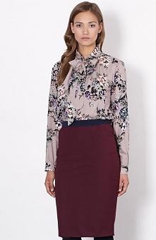 Click Fashion Genewa spódnica bordowa Elegancka spódnica damska, ołówkowy fas...