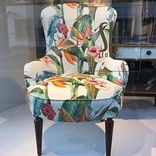 fotel w tkaninie tropicana ...
