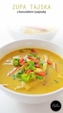 Pikantna tajska zupa z kurc...