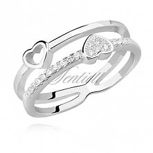Przepiękny pierścionek z de...
