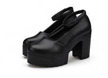 Piękne buty zapinane na kos...