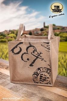 Modna i praktyczna torba z juty od koszyki.net.pl świetnie sprawdzi się na zakupach jako ekologiczna alternatywa dla plastikowych siatek.