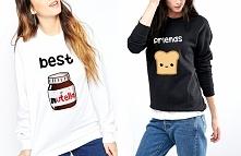 Bluzy przyjaźni - bluzy dla przyjaciół - BLUZY BEST FRIENDS nutella i tost sklep WYDRUKOWANE.COM.PL - modne młodzieżowe bluzy z nadrukiem - bluzy damskie i bluzy męskie dla nast...