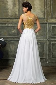Suknia ślubna ze złota gipi...