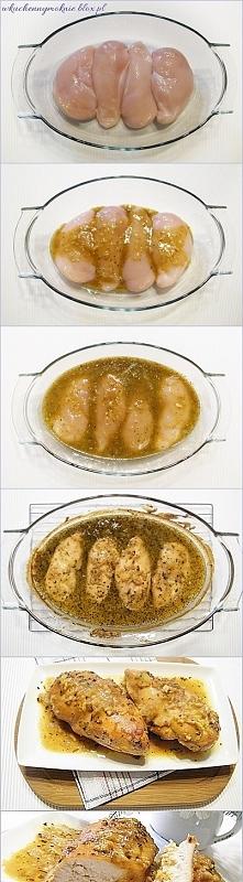 Filety z kurczaka w sosie miodowo-musztardowym (przepis klik w zdjęcie)