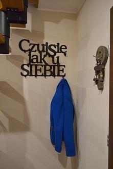 Wieszak na ubrania Czuj się jak u siebie art-steel.pl