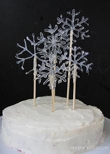 cake topper - sniezynki