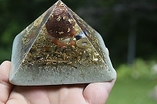 Orgonit®- Orgon Generator – Piramida –Jaspis kula - Tachyon Kryształy: Ametys...