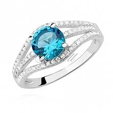 Srebrny pierścionek z błęki...