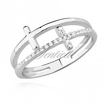 Srebrny pierścionek podwójn...