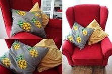 szara poduszka i odrobina farby:)