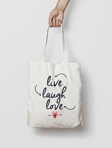 Praktyczna i wytrzymała torba na zakupy z długimi uszami . Z oryginalnym teks...