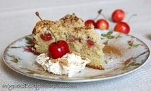 Ciasto czereśniowe z kruszonką - Wypieki Beaty