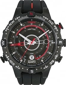 Męski zegarek na pasku z kompasem, termometrem, wodoodpornością 100 atm Timex...