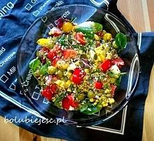 zdrowo i na bogato  przepis na sałatkę na facebooku: bo lubię jeść oraz po kl...