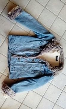 nowa katana z futerkiem sprzedam za 30 zł.  rozmiar xs #Futerko #katana #jeans #moda