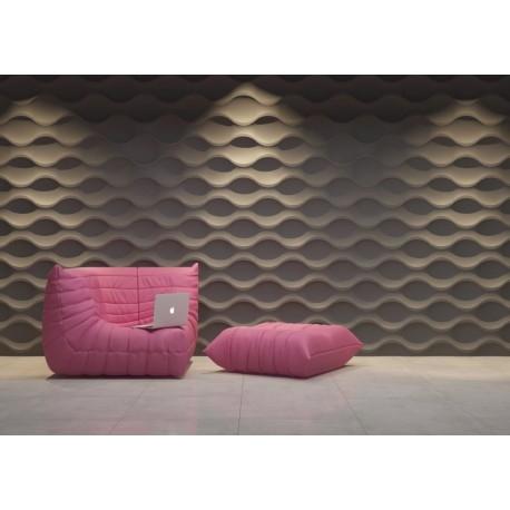 Gipsowe panele ścienne 3D, to nowoczesne rozwiązania do aranżacji pomieszczeń. Model Sinus firmy Dunes dostępny jest w sklepie online dekorplanet.pl