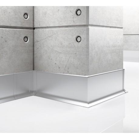 Aluminiowa nowoczesna listwa przypodłogowa LP80 Creativa. Doskonale sprawdza się w towarzystwie betonu architektonicznego i surowych ścian. Ale często jest zestawiany poprostu w nowoczesnych wnętrzach. Dostępna w sklepie online Dekorplanet.pl
