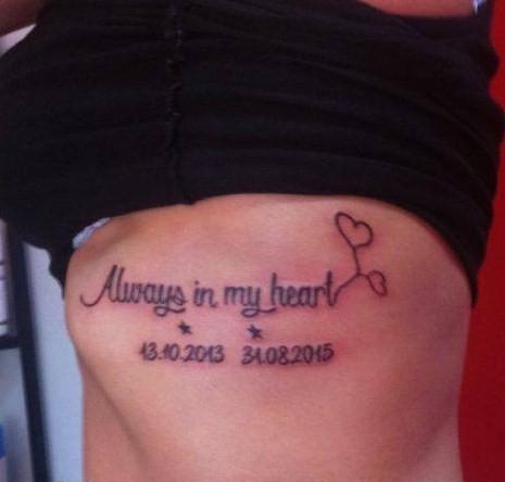 tatuaż napis