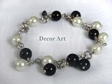 bransoletka, szklane perły