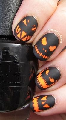 Idealne paznokcie na halloween :)