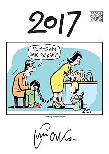 Kalendarz na 2017 rok z humorystycznymi rysunkami Andrzeja Mleczki - do powieszenia w sypialni i nie tylko ;)