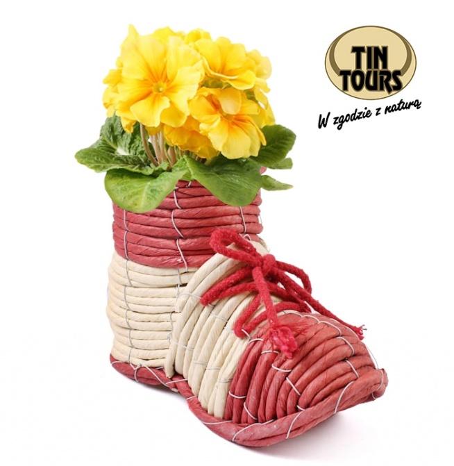 Osłona na kwiaty w kształcie buta od koszyki.net.pl