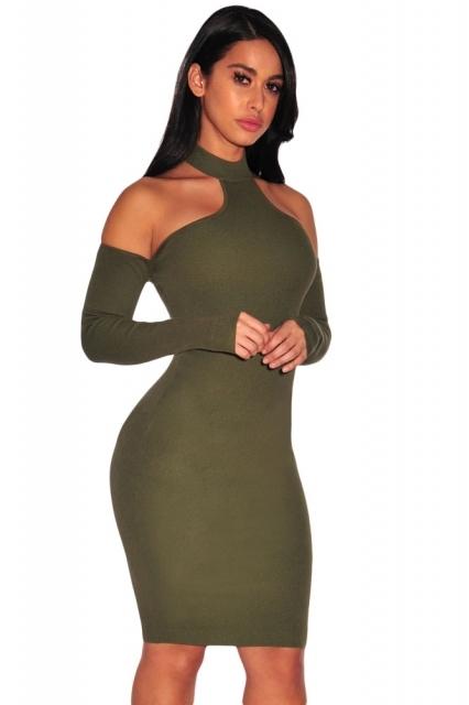 ff9d687085 sukienka z chokerem i odkrytymi ramionami na Mój styl - Zszywka.pl